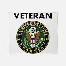 U.S. Army Veteran Throw Blanket