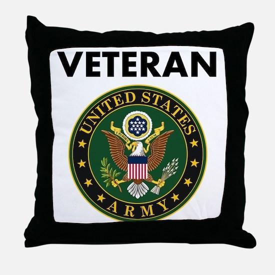 U.S. Army Veteran Throw Pillow