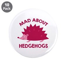 """Mad About Hedgehogs 3.5"""" Button (10 pack)"""