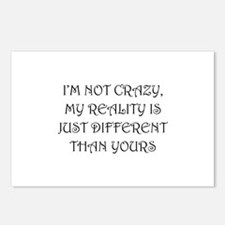 I'm Not Crazy Postcards (Package of 8)