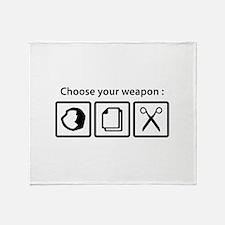 Choose Your Weapon Stadium Blanket