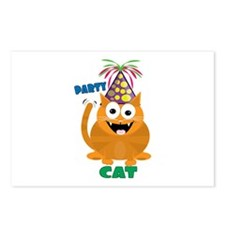 Party Cat Postcards (Package of 8)