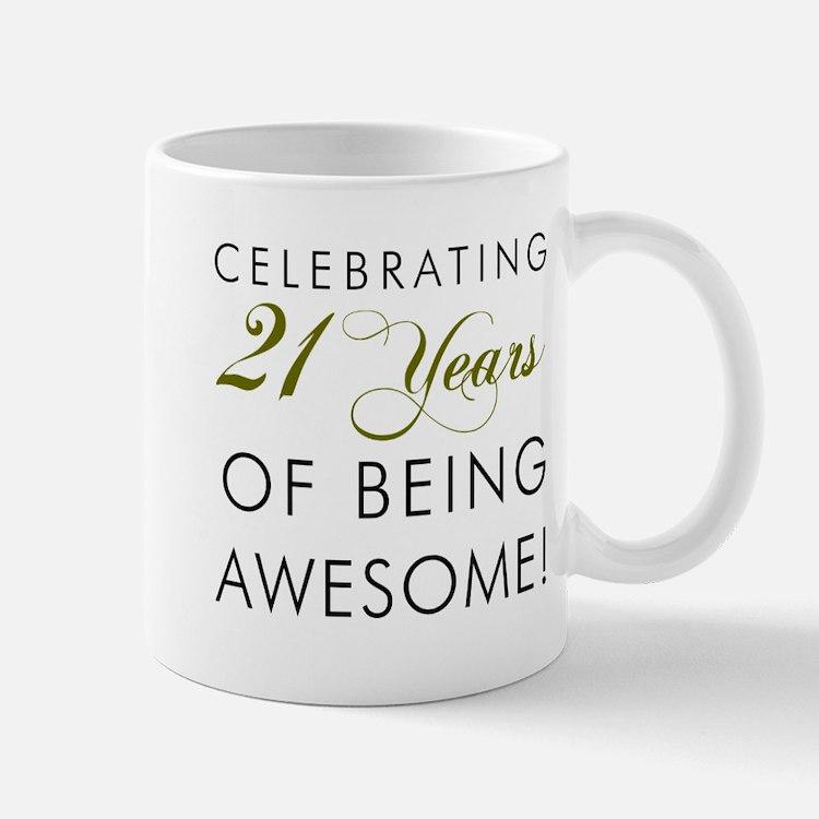 21st Birthday Travel Mugs