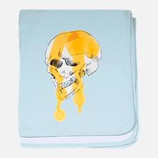 Dripping Skull Profile baby blanket