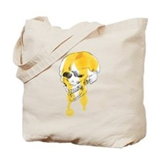 Dripping Skull Profile Tote Bag