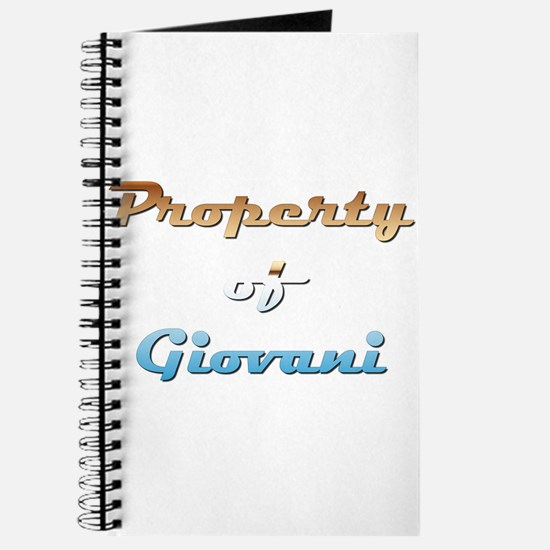Property Of Giovani Male Journal