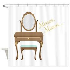 Mirror Mittor Shower Curtain