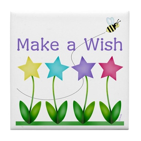 Make a Wish Tile Coaster