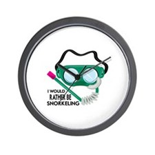 Rather Be Snorkeling Wall Clock