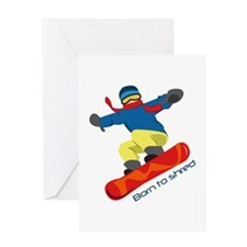 Born To Shred Greeting Cards