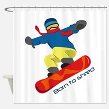 Born To Shred Shower Curtain