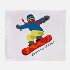 Born To Shred Throw Blanket