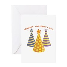 Wheres The Party Greeting Cards