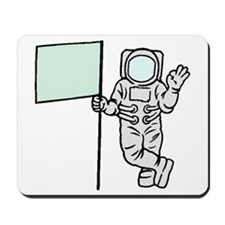 Astronaut With Flag Mousepad