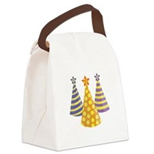 Party Hats Canvas Lunch Bag