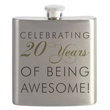 20 Years Awesome Drinkware Flask