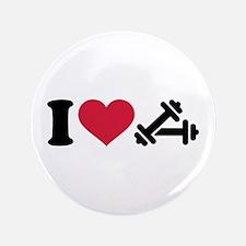 "I love barbell dumbbell 3.5"" Button"
