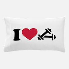 I love barbell dumbbell Pillow Case