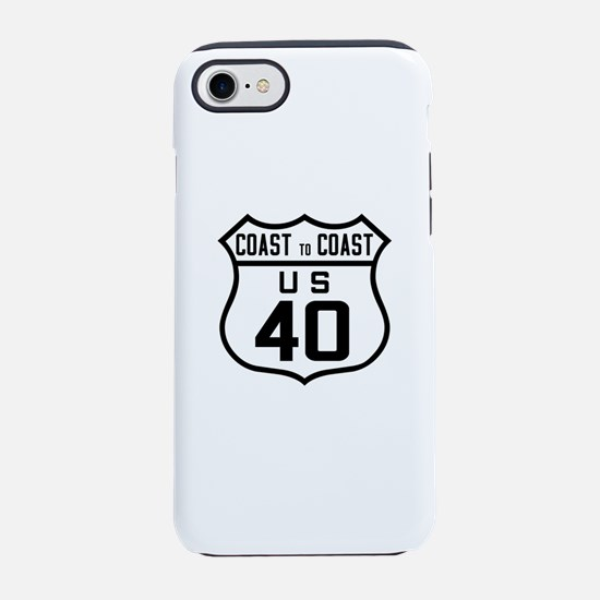 US Route 40 Coast to Coast iPhone 7 Tough Case