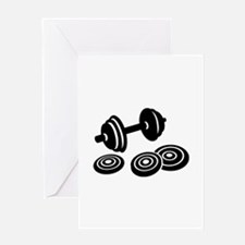 Barbell Dumbbell Greeting Card