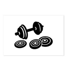 Barbell Dumbbell Postcards (Package of 8)