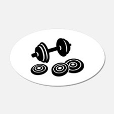 Barbell Dumbbell Wall Decal