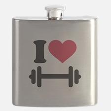 I love barbell dumbbell Flask