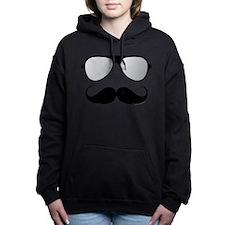 Maternity Mustache Women's Hooded Sweatshirt