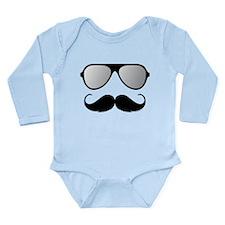 Maternity Mustache Body Suit