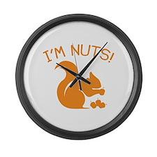 I'm Nuts Large Wall Clock