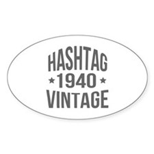 Hashtag Vintage 1940 Decal