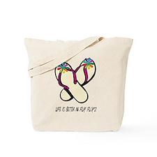 Flip Flops Flowers Multi LIBIFF Tote Bag