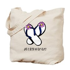 Flip Flops Flower Purple Tote Bag