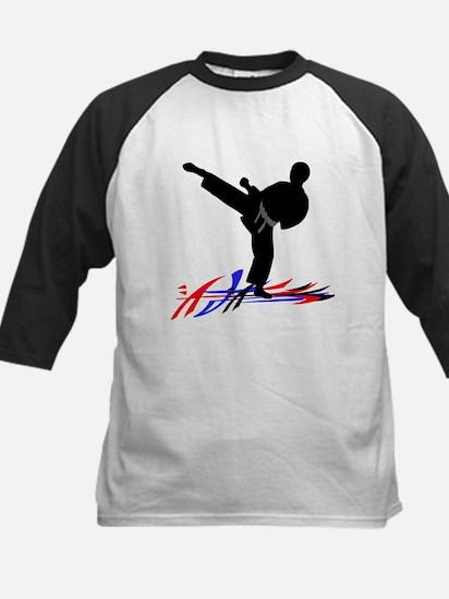 Martial Artist Kids Baseball Jersey