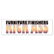 Furniture Finishers Kick Ass Bumper Car Sticker