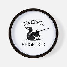 Squirrel Whisperer Wall Clock