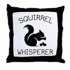 Squirrel Whisperer Throw Pillow