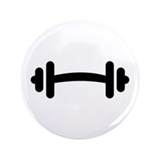 """Barbell Dumbbell 3.5"""" Button"""