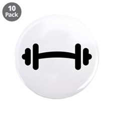 """Barbell Dumbbell 3.5"""" Button (10 pack)"""