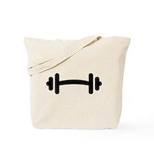 Barbell Dumbbell Tote Bag