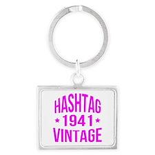 Hashtag Vintage 1941 Landscape Keychain