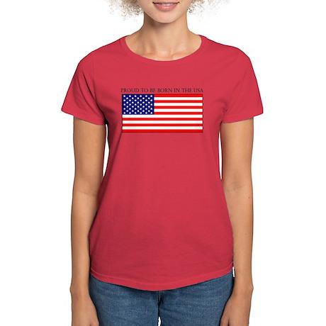 Born in the USA Women's Dark T-Shirt