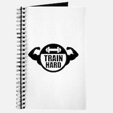Train hard barbell muscles Journal
