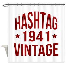 Hashtag Vintage 1941 Shower Curtain
