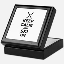 Keep calm and Ski on Keepsake Box