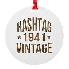 Hashtag Vintage 1941 Ornament