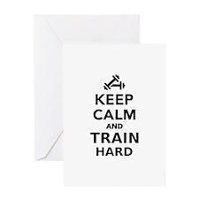 Keep calm and train hard Greeting Card