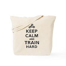 Keep calm and train hard Tote Bag