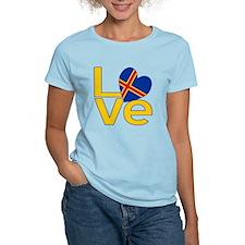 Yellow Aaland Islands LOVE T-Shirt
