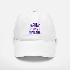 Hashtag 1942 Vintage Baseball Baseball Cap